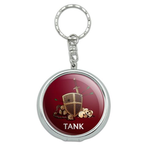 Tank Warrior RPG MMORPG Class Role Playing Game Portable Travel Size Pocket Purse Ashtray Keychain with Cigarette Holder