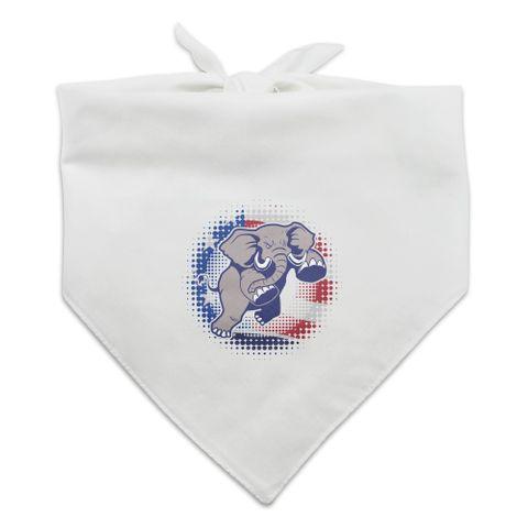 Angry Republican Elephant Politics GOP American Flag Dog Pet Bandana