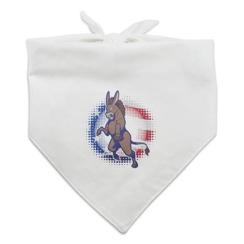 Angry Democrat Donkey Politics America Flag Dog Pet Bandana