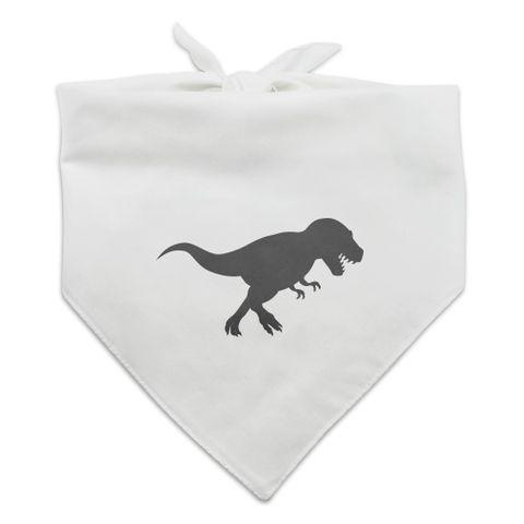 Dinosaur Tyrannosaurus Rex Black White Dog Pet Bandana