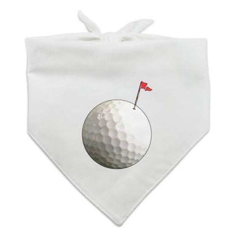 Golf Ball Moon Flag Golfing Dog Pet Bandana