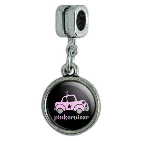 Pink Cruiser Police Car Logo Italian European Style Bracelet Charm Bead