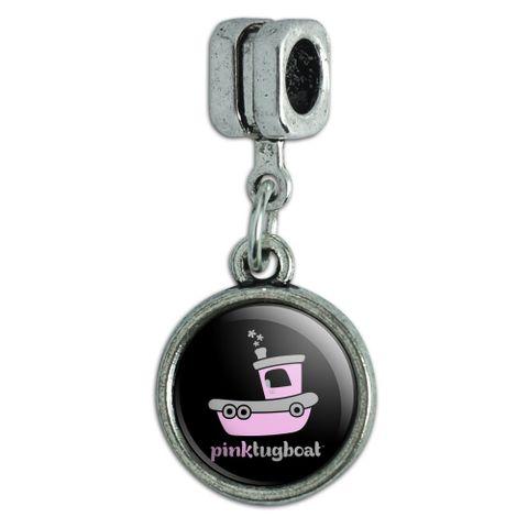 Pink Tugboat Tug Boat Logo Italian European Style Bracelet Charm Bead