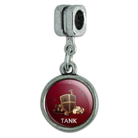 Tank Warrior RPG MMORPG Class Role Playing Game Italian European Style Bracelet Charm Bead