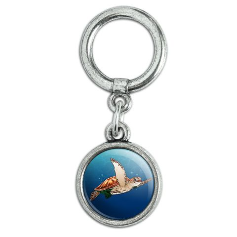 Sea Turtle Swimming in Ocean Shoe Sneaker Shoelace Charm Decoration