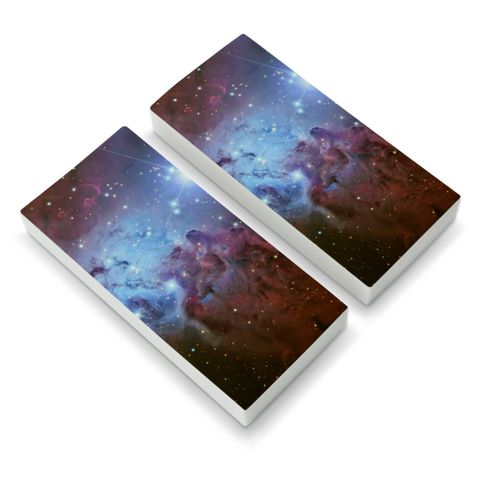 Fox Fur Nebula Monoceros Constellation Galaxy Eraser Set of 2