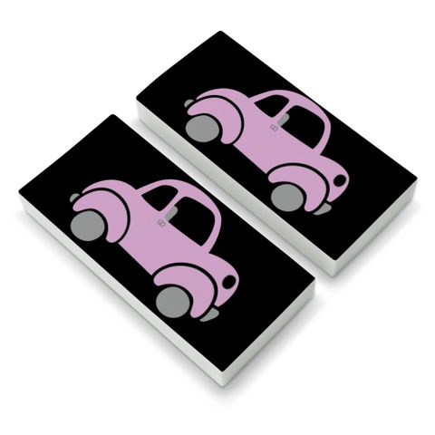 Pink Car Eraser Set of 2
