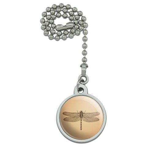 Dragonfly Vintage Insect Ceiling Fan and Light Pull Chain