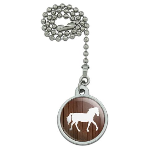 Horse Silhouette Cowboy Western Ceiling Fan and Light Pull Chain