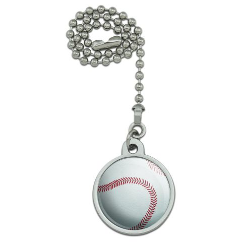 Baseball Ball Ceiling Fan and Light Pull Chain