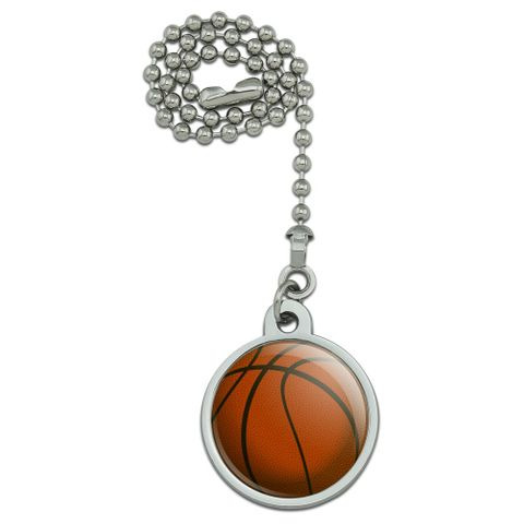 Basketball Ball Ceiling Fan and Light Pull Chain