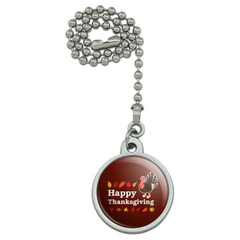 Happy Thanksgiving Turkey Ceiling Fan and Light Pull Chain
