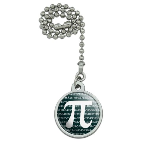 Pi Math Geek Nerd 3.14 Ceiling Fan and Light Pull Chain