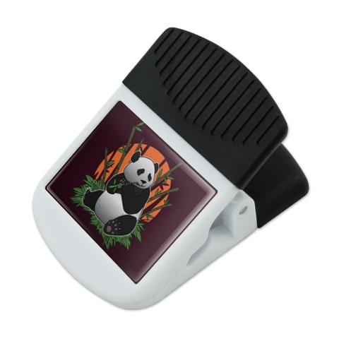 Giant Panda Bear Eating Bamboo Refrigerator Fridge Magnet Magnetic Hanging Hook Note Snack Clip