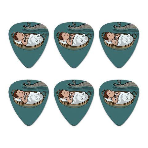 Baby Moses in a Basket Christian Novelty Guitar Picks Medium Gauge - Set of 6