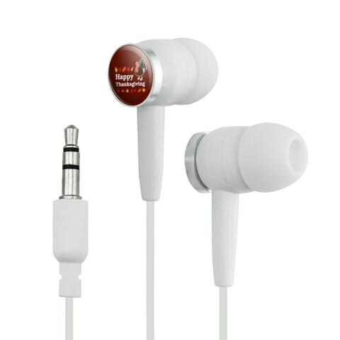 Happy Thanksgiving Turkey Novelty In-Ear Earbud Headphones
