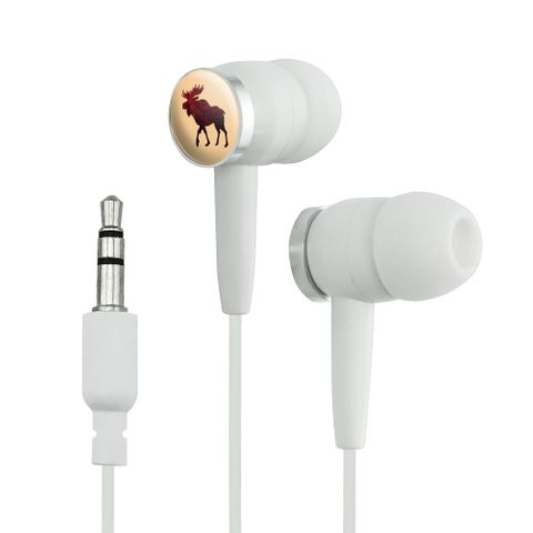 Moose Red Forest Novelty In-Ear Earbud Headphones