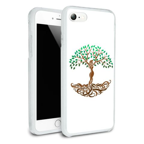Tree of Life Mother Nature Protective Slim Fit Hybrid Rubber Bumper Case Fits Apple iPhone 8, 8 Plus, X