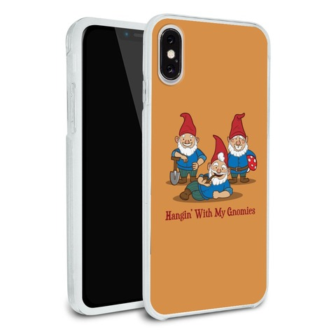 Hanging With My Gnomies Gnomes Protective Slim Fit Hybrid Rubber Bumper Case Fits Apple iPhone 8, 8 Plus, X