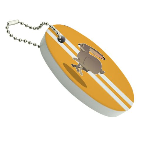 Jackrabbit Running Racing Floating Foam Keychain Fishing Boat Buoy Key Float