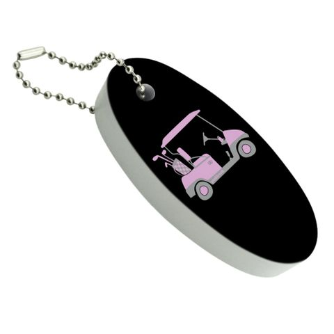 Pink Golf Cart Floating Foam Keychain Fishing Boat Buoy Key Float