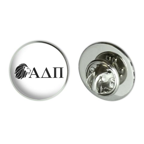 "Alpha Delta Pi Sorority Lion Greek Letters Black Officially Licensed Metal 0.75"" Lapel Hat Pin Tie Tack Pinback"