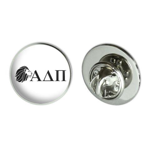 "Alpha Delta Pi Sorority Lion Greek Letters Black Officially Licensed Metal 0.75"" Lapel Hat Pin Tie Tack Pinback"
