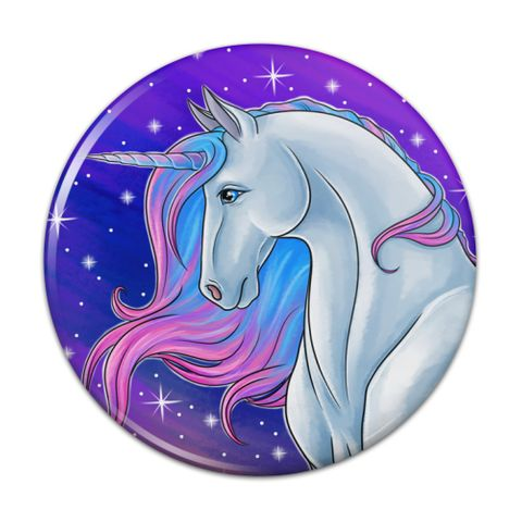 Majestic Unicorn Pink Purple Blue Compact Pocket Purse Hand Cosmetic Makeup Mirror