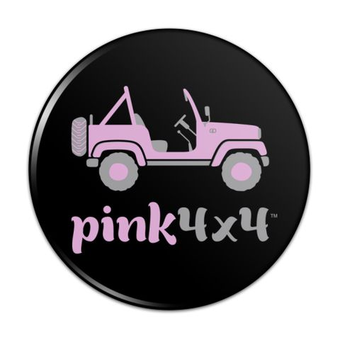 Pink 4x4 Truck Off-Road Logo  Compact Pocket Purse Hand Cosmetic Makeup Mirror