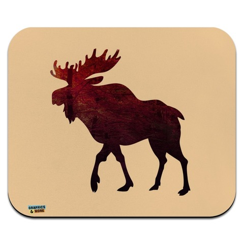 Moose Red Forest Low Profile Thin Mouse Pad Mousepad