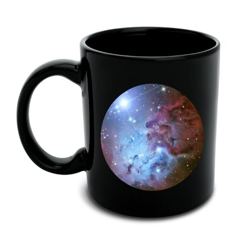Fox Fur Nebula Monoceros Constellation Galaxy Black Mug