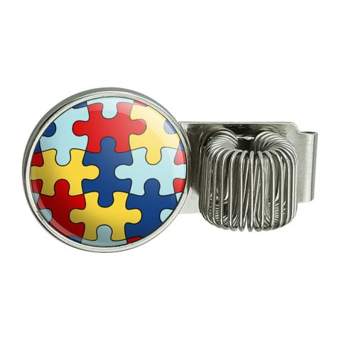 Autism Awareness Diversity Puzzle Pieces Planner Journal Appointment Book Diary Notebook Pen Holder Clip Accessory