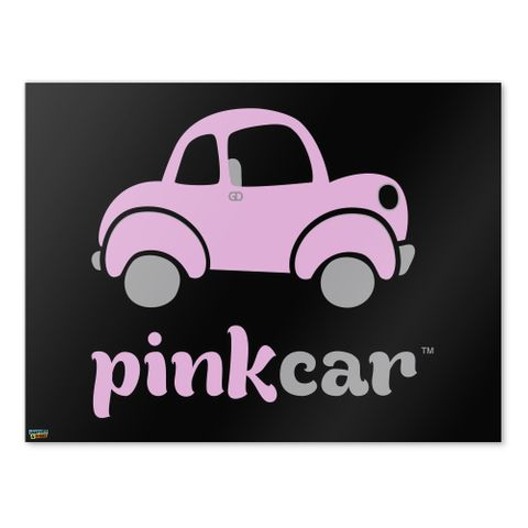 Pink Car Logo Home Business Office Sign