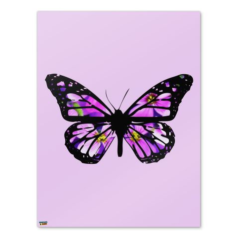 Butterfly with Flowers Home Business Office Sign