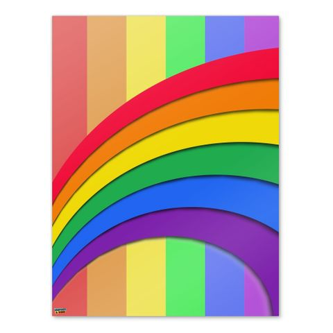 Double Rainbow Pride Arc Home Business Office Sign
