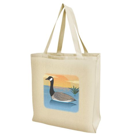 Canadian Goose Geese Swimming Canada Grocery Travel Reusable Tote Bag