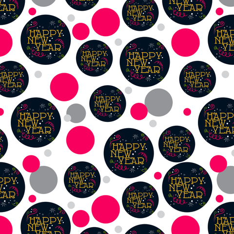 Happy New Year Premium Gift Wrap Wrapping Paper Roll