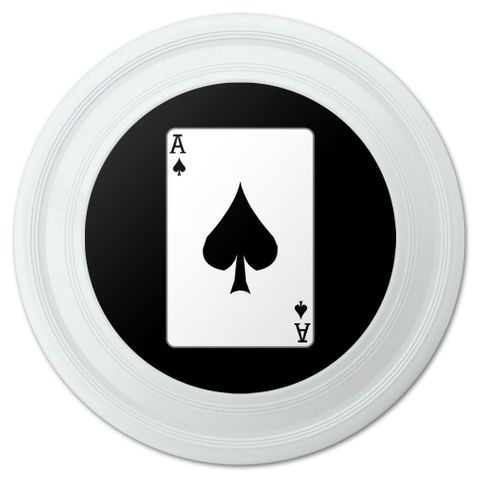 "Playing Cards Ace of Spades Novelty 9"" Flying Disc"