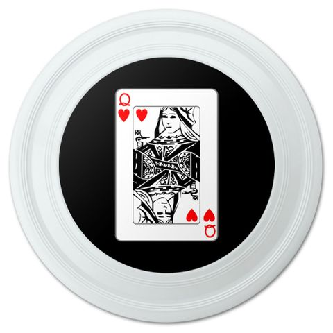 "Playing Cards Queen of Hearts Novelty 9"" Flying Disc"