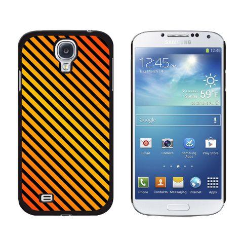 Urban Stripes Orange Black Galaxy S4 Case