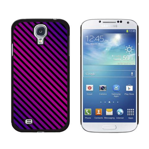 Urban Stripes Purple Black Galaxy S4 Case