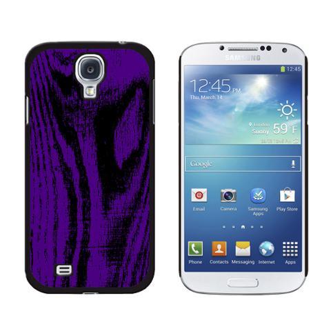 Wood Grain Purple Galaxy S4 Case
