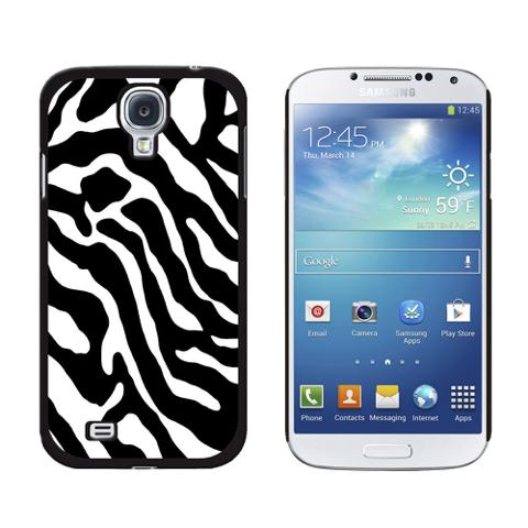 Zebra Print Black White Galaxy S4 Case
