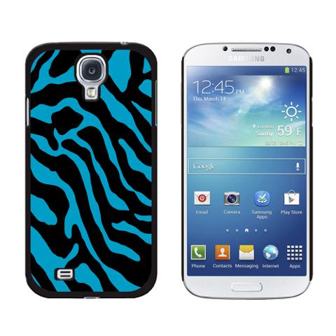 Zebra Print Blue Galaxy S4 Case