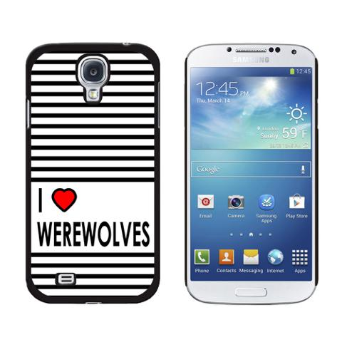 I Love Heart Werewolves Galaxy S4 Case