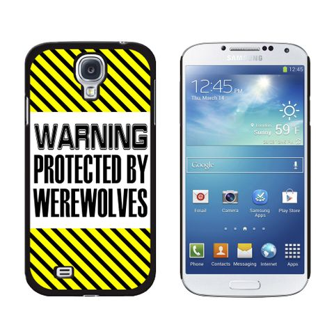 Warning Protected By Werewolves Galaxy S4 Case