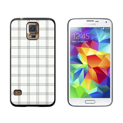 Mad for Plaid Black White Galaxy S5 Case
