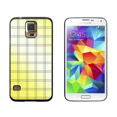 Mad for Plaid Yellow Galaxy S5 Case