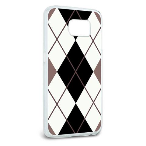 Argyle Hipster Black White - Preppy Galaxy S6 Case