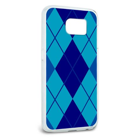 Argyle Hipster Blue - Preppy Galaxy S6 Case